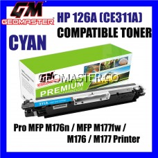 Compatible Colour Laser Toner HP CE311A / 126A Cyan High Quality Compatible Toner Cartridge For LaserJet Pro CP1025 / CP1025nw / PRO 100 MFP M175a / MFP M175nw / MFP M275 / MFP M275nw Printer Toner