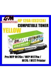 HP Compatible CE312A CE312 312A 126A Yellow Laser Toner Cartridge For Use In HP Laserjet Pro CP1021 / CP1025 / 200 color MFP M175