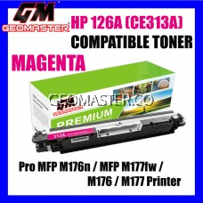 Compatible Colour Laser Toner HP CE313A / 126A Magenta High Quality Compatible Toner Cartridge For LaserJet Pro CP1025 / CP1025nw / PRO 100 MFP M175a / MFP M175nw / MFP M275 / MFP M275nw Printer Toner