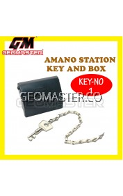 AMANO PR 600 WATCHMAN CLOCK STATION KEY AND BOX (NO-1)