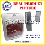 LOCAL GEOMASTER 360A ANALOG PUNCH CARD MACHINE TIME RECORDER