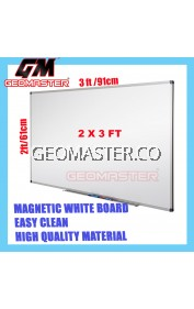 HIGH QUALITY Magnetic White Board WHITEBOARD (60cm x 90 cm)-  2 x 3 ruler II