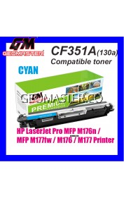 HP CF351A / 130A Cyan High Quality Compatible Colour Laser Toner Cartridge For HP LaserJet Pro MFP M176n / MFP M177fw / M176 / M177 Printer