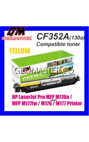 Compatible Laser Toner HP CF352A / 130A Yellow High Quality Compatible Toner Cartridge For LaserJet Pro MFP M176n / MFP M177fw / M176 / M177 Printer
