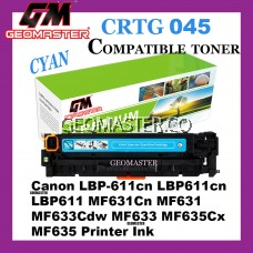 Compatible Laser Toner Cartridge ImageClass Canon 045 Compatible 045 Cartridge 045 CRG045 CRG 045 Cyan CY C Colour Laser Toner Cartridge For Canon LBP-611cn LBP611cn LBP611 MF631Cn MF631 MF633Cdw MF633 MF635Cx MF635 Printer Ink
