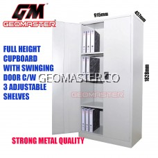 GM Full Height Cabinet Cupboard come with 3 Adjustable Shelves and Steel Swinging Door