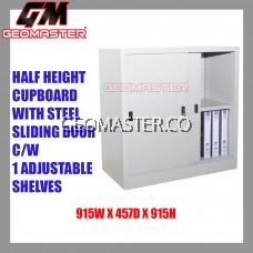 Half Height Cupboard With Steel Aliding Door