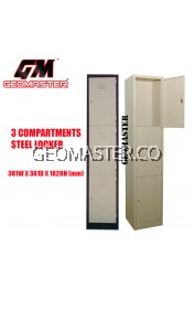 GM 3 Compartments Steel Locker