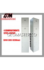 GM 4 Compartments Steel Locker