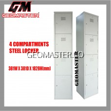 GM 4 Compartments Steel Locker