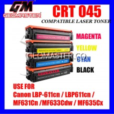 Canon 045 Compatible 045 Full Set Cartridge 045 CRG045 + CRG 045 Black + CRG 045 Cyan + CRG 045 Yellow + CRG 045 Magenta Colour Laser Toner Cartridge For Canon LBP-611cn LBP611cn LBP611 MF631Cn MF631 MF633Cdw MF633 MF635Cx MF635 Printer Ink