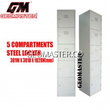 GM 5 Compartments Steel Locker