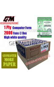 GM 1 PLY COMPUTER FORM (2000 FANS)
