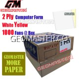 GM 2 PLY COMPUTER FORM WHITE / YELLOW (1000Fans)