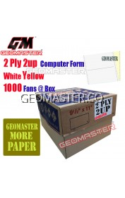 GM 2 PLY 2UP COMPUTER FORM WHITE / YELLOW (1000Fans)
