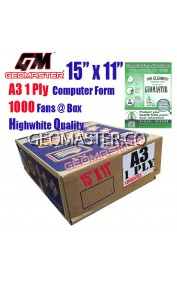 GM A3 1 PLY COMPUTER FORM (1000 FANS)