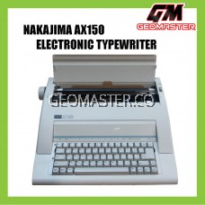 NAKAJIMA AX-150 ELECTRONIC TYPEWRITER (3 YEARS WARRANTY)