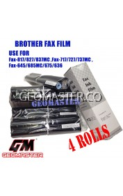 4 Rolls Brother PC402RF / 402RF Compatible Fax Ink Film For Brother FAX-636 FAX-645 FAX-675 FAX-717 FAX-727 FAX-827MC FAX-878 Machine