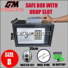 GEOMASTER GM-25 Drop Slot Deposit Safe Box /Safety box GM25-DS(Thick)