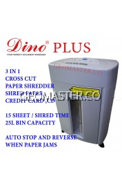 DINO PLUS Paper Shredder (Cross Cut)