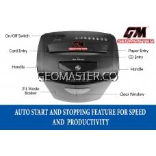 GM PAPER SHREDDER CROSS CUT - SHRED CD + CREDIT CARD