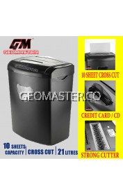 GM PAPER SHREDDER CROSS CUT - SHRED CD + CREDIT CARD