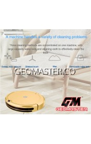 GEOMASTER 3 IN1 SMART ROBOTIC VACUUM CLEANER CORDLESS SWEEPING CLEANING MACHINE TIMING FUNCTION