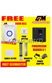 GEOMASTER BIOMETRIC FINGERPRINT DOOR ACCESS SECURITY SYSTEM