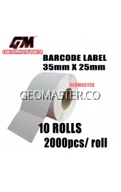 Barcode Label 35mm X 25mm (2000pcs) - Thermal barcode label sticker -10 ROLLS