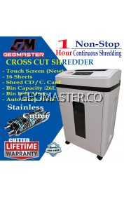 GEOMASTER MASTER III Shredder Office 4 level Confidential Grinder continuous shredded paper 60 minutes 26L large capacity
