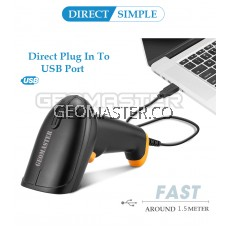 Handheld Wired 1D Laser Bar code Reader Barcode Scanner For Supermarket -Ready Stock