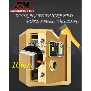GM New Large Fingerprint Home Hotel Office Safe Safety Deposit Box Alam