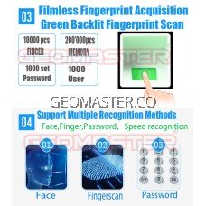 GEOMASTER S400 BIOMETRIC FACE RECOGNITION TIME ATTENDANCE FACE ATTENDANCE