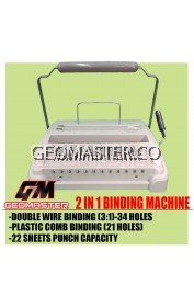 MULTI FUNCTION BINDING MACHINE - DOUBLE WIRE & PLASTIC COMB BINDING - HEAVY DUTY
