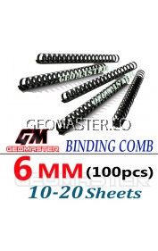 Comb Binder Rings / Plastic Comb Rings / Binding Rings / Binding Comb Rings 6mm Black - 100Pcs/Box