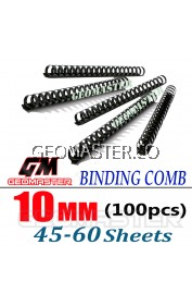 Comb Binder Rings / Plastic Comb Rings / Binding Rings / Binding Comb Rings 10mm Black - 100Pcs/Box