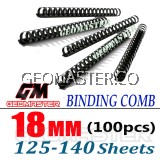 Comb Binder Rings / Plastic Comb Rings / Binding Rings / Binding Comb Rings 18mm Black - 100Pcs/Box