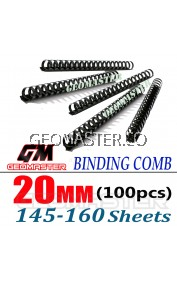 Comb Binder Rings / Plastic Comb Rings / Binding Rings / Binding Comb Rings 20mm Black - 100Pcs/Box