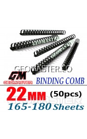 Comb Binder Rings / Plastic Comb Rings / Binding Rings / Binding Comb Rings 22mm Black - 50Pcs/Box