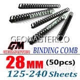 Comb Binder Rings / Plastic Comb Rings / Binding Rings / Binding Comb Rings 28mm Black - 50Pcs/Box