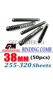 Comb Binder Rings / Plastic Comb Rings / Binding Rings / Binding Comb Rings 38mm Black - 50Pcs/Box