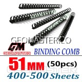 Comb Binder Rings / Plastic Comb Rings / Binding Rings / Binding Comb Rings 51mm Black - 50Pcs/Box