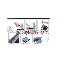 Comb Binder Rings / Plastic Comb Rings / Binding Rings / Binding Comb Rings 51mm Black - 50Pcs/Box