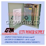 CCTV POWER SUPPLY 12V10A -18 CHANNEL