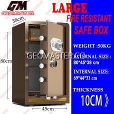 GEOMASTER FIRE RESISTANT SAFE BOX SAFETY BOX LARGE SAFE BOX -50KG