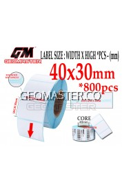 40 x 30 mm Barcode Sticker Thermal Price Label Product Label Sticker Paper Stock Ready 40 x 30 mm