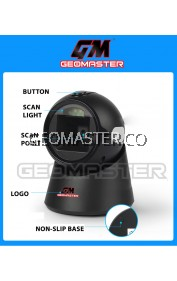 GEOMASTER High Quality Laser Flatbed Barcode Scanner 20 Lines Desktop Omnidirectional Bar code Reader for Retail Store/Supermarket