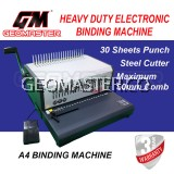 GEOMASTER HEAVY DUTY ELECTRONIC BINDING MACHINE GM-30BD