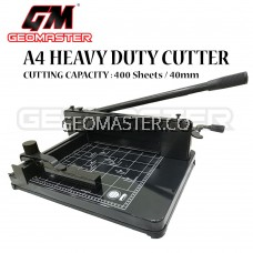 GEOMASTER A4 HEAVY DUTY PAPER CUTTER  / STAINLESS STEEL CUTTER