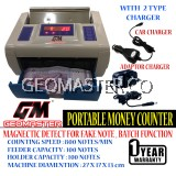 GEOMASTER PORTABLE MONEY COUNTER , NOTE COUNTER , BILL COUNTER